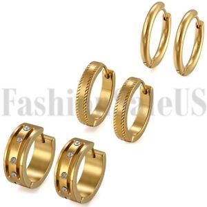 6pcs-Fashion-Men-Women-Stainless-Steel-Charm-Hoop-Huggie-Earstud-Set-Earrings