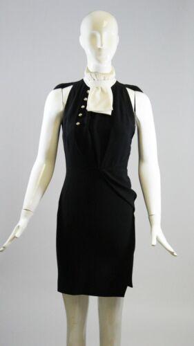 ALTUZARRA Black Ivory White Pleated Bib Collar But