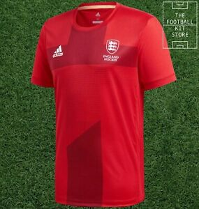 Canal Tranquilidad de espíritu después de esto  adidas England Hockey Home Shirt - Red - Mens - All Sizes | eBay