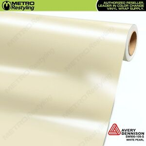 Avery Supreme GLOSS WHITE PEARL Vinyl Vehicle Car Wrap Film Roll SW900-109-S