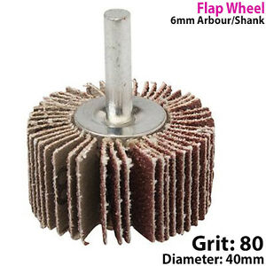 40mm-Flap-Wheel-80-Grit-For-Drill-Attachment-Sanding-amp-Rust-Removal