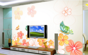 3D Anime Butterfly 5 Wallpaper Murals Wall Print Wallpaper Mural AJ WALL AU Kyra