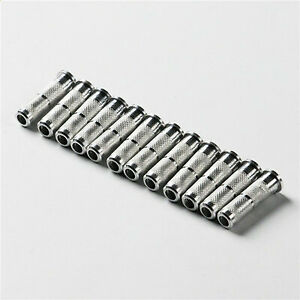 12pcs Screw in adapters Arrow Inserts for  6.2mm arrow field points Aluminum