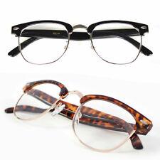 Retro Vintage Clear Lens Eye Glasses Fashion Horn Rim Frame Designer Mens Womens