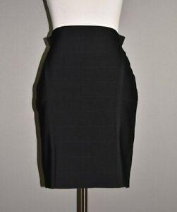 GUESS-NEW-79-Black-Ottoman-Stitch-Mirage-Bandage-Skirt-Large