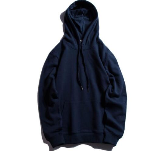 Mens 100/% Cotton Solid Color Long Sleeves Coat Loose Fashion Style Hoodie 2019