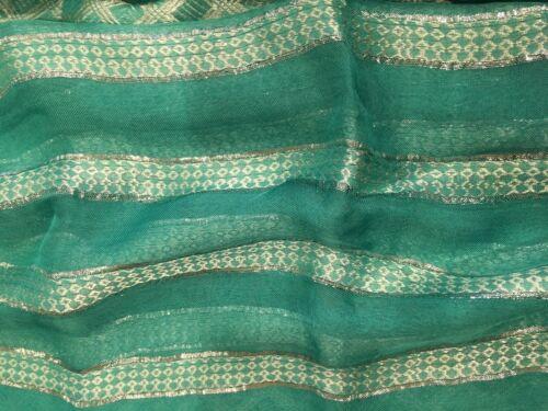 Lurex Embroidered Stripe Belly Dance Veils