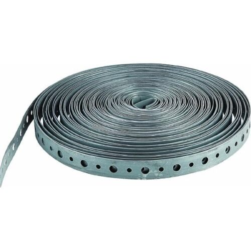 """3//4/"""" x 10/' Galvanized Steel Plumbers Tape Hanger Strap 100/'s USES 5 roll pack"""