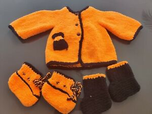 Hand Knitted 0-3 month baby cardigan