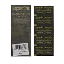Military Aquamira Water Purifier Tablet Purification Treatment Camp Hike 10 Pack