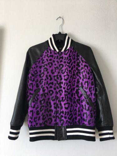$1538 Junya Watanabe Comme Des Garcons Cowhide Leather Foux Fur Jacket Size S by Junya Watanabe Comme Des Garçons