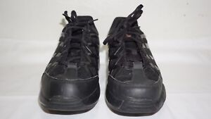 cd5366919917 MBT SPORT 3 Men s Black Leather Rocker Sole TONING Sneaker s Size ...