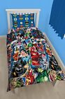 Justice League Childrens Single Duvet Cover 2 in 1 Reversible Kids Bedding