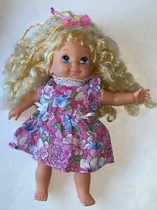 Vintage-Mattel-1992-LOVABLE-BABIES-HAPPY-BIRTHDAY-BABY-DOLL-12-034-Blonde