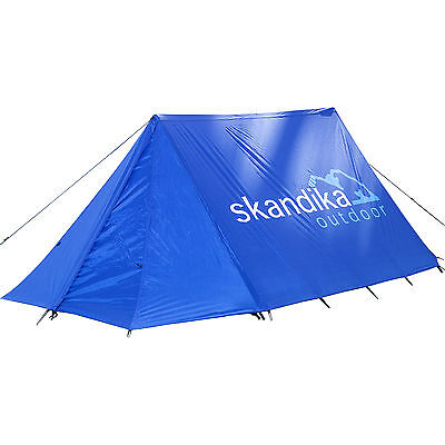 Skandika Retro-Ridge Blue Zelt Firstzelt Festival einfacher Aufbau blau