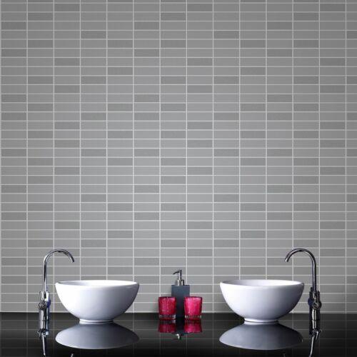 Superfresco Easy Paste The Wall Rimini Tile Effect Grey Shimmer Wallpaper 33-066