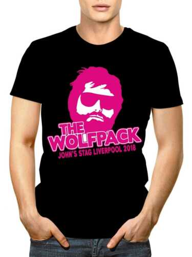 Hangover//Wolfpack Personalised Stag Party Crew Neck T-Shirt Custom Text /& Colour