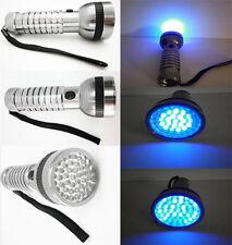 Linterna de luz ultravioleta (UV) -41/21 Leds -Color aluminio-Detector billetes