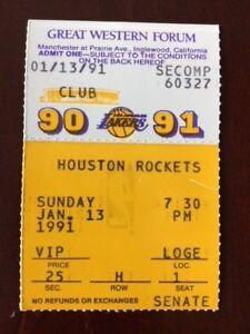 VINTAGE 1990-1991 SEASON L.A. LAKERS TICKET STUB VS ...