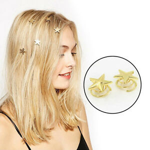 Fashion-Women-Hot-Lovely-Star-Gold-Swirl-Hair-Pins-Clip-Hairpin-Barrettes-SP