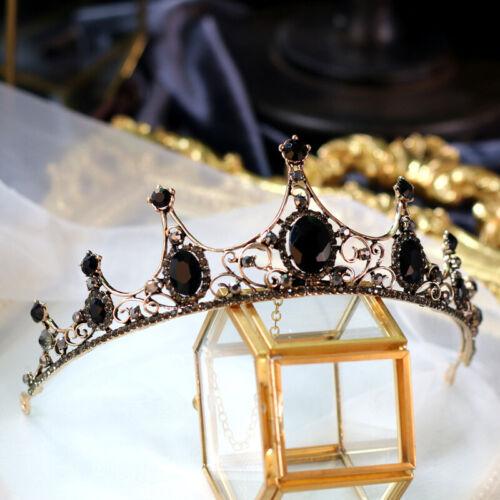 22 Styles Black Grey Crystal Queen Princess Tiara Crown Wedding Party Pageant