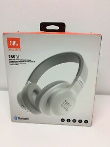 Jbl E55bt Over Ear Wireless Bluetooth Headphones White Jble55btwht Ebay