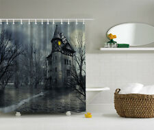 "HALLOWEEN HAUNTED HOUSE CASTLE 70"" Fabric Bathroom Shower Curtain"
