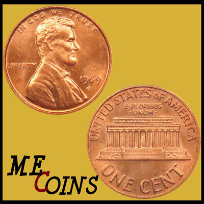 GEM BU Red US Coin Free Shipping! 1963-D Lincoln Memorial Cent Penny