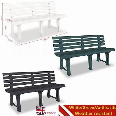 Garden Bench 145 5x49x74 Cm Plastic Outdoor Seat Patio Yard Decor 3 Colors