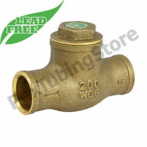 "1/2"" Sweat (CxC) Brass Swing Check Valve, LEAD-FREE"