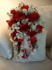 LLCD Satin Bouquet Cuff Wrap Monogram FREE Wedding Custom in your colors