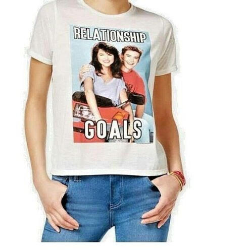 SAVED BY THE BELL RELATIONSHIP GOALS T SHIRT 90's WOMEN JUNIOR S