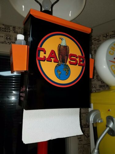 CASE TRACTOR FARM MACHINERY NOSTALGIC 50S ERA TOWEL BOX DISPENSER