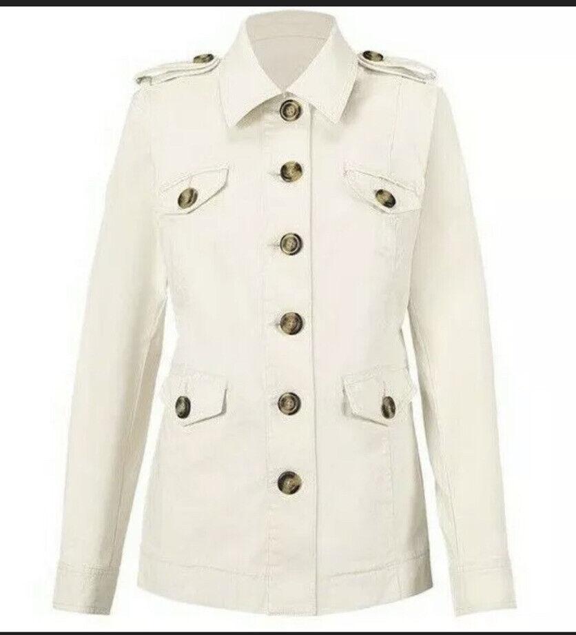 Cabi New NWT Size XXL Kenya Jacket #5659 Bone Ivory Stunning! Was