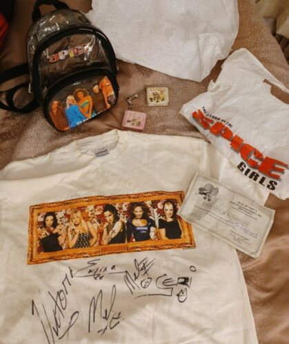 Spice Girls autographed t-shirt +bonuses true fan