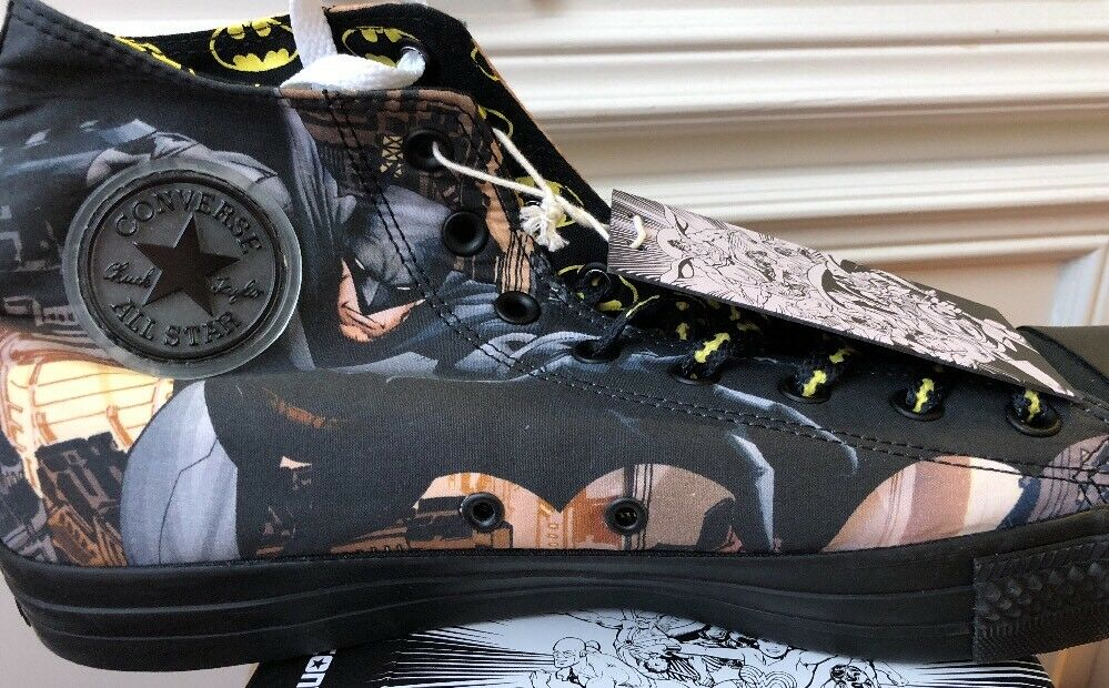 New Converse X DC Comics Batman Bat Signal Rare Print damen 8 Chucks