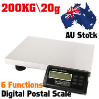 200kg/20g Electronic Digital Platform Scale Shop Postal Scales Weight Ce Uk