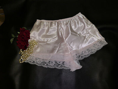 fcd6ebb0a39a Pink Satin Lace French Knickers Underwear Sissy Satin Panties Size 18/20 ...