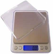 Portable Digital Collector Scale Gold Coin Herbs Backing Kitchen 500g + 2 Bowls