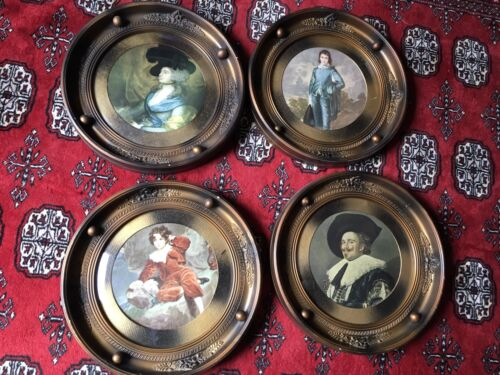 Gainsborough paintings in convex frames early 20th century
