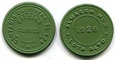 Chile, Lot of 2 Vulcanite Tokens, 1 Peso & 1 Kilo of Meat, 41mm