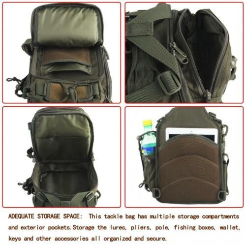 Blisswill Outdoor Tackle Bag Multifonctionnel résistant à l\'eau vert kaki