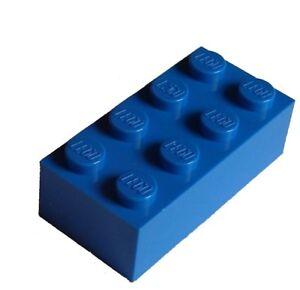 Lego-50-blaue-Steine-2x4-Basicsteine-3001-Stein-Neu-blue-bricks-brick