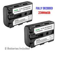 2x Kastar Battery For Sony Np-fm50 Ccd-trv118 Ccd-trv126 Ccd-trv128 Ccd-trv138