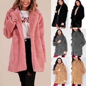 womens thick winter warm teddy bear overcoat fluffy lapel. Black Bedroom Furniture Sets. Home Design Ideas