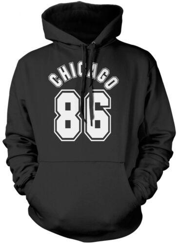 Chicago 86-Streetwear Hipster Unisexe Sweat à capuche