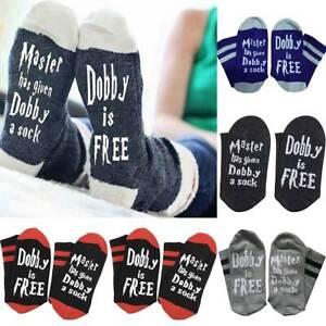 """Harry Potter Dobby Socks /""""Master has given Dobby a sock Dobby is free/"""""""