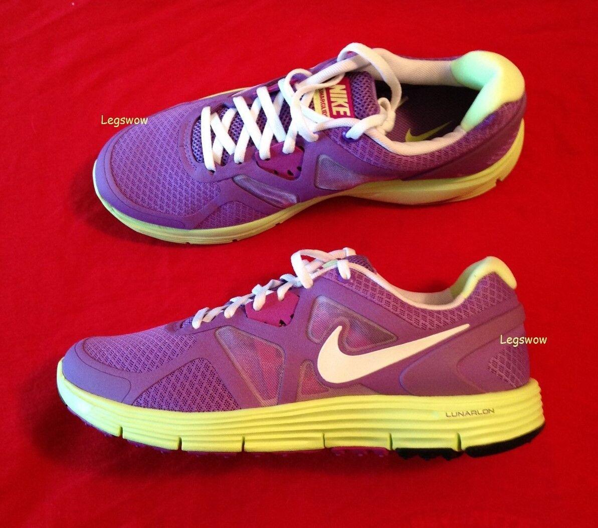 Nike lunarglide 3 scarpa da corsa giallo viola scarpe femminili giovane ragazzo - ragazza 7