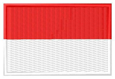 Flag Monaco Bandera de Monaco Parche bordado Thermo-Adhesivo patch