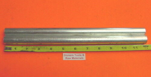 """2 Pieces 3//4/"""" ALUMINUM ROUND 6061 ROD 12/"""" long Solid T6511 .75/"""" New Lathe Stock"""
